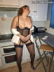 Chubby ponytailed mom in stockings - Sexy Women in Lingerie - Picture 13