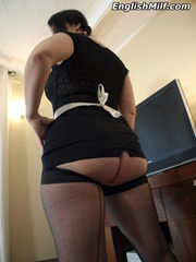 Dirty brunette room maid in - Sexy Women in Lingerie - Picture 2