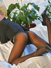 Awesome blonde mom in black tights, - Sexy Women in Lingerie - Picture 5