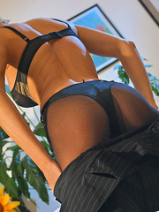 Awesome blonde mom in black tights, - Sexy Women in Lingerie - Picture 11