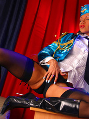 Dirty milf stewardess in a blue - Sexy Women in Lingerie - Picture 10