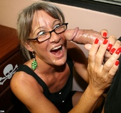 Big boss cumming onto his grey secretary's face…