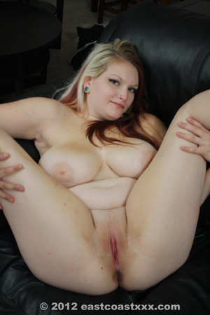 Chubby blonde babe with big jugs swallows cock before getting doggystyled hard - XXXonXXX - Pic 5