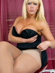 Hot blonde milf with very big jugs - Sexy Women in Lingerie - Picture 9
