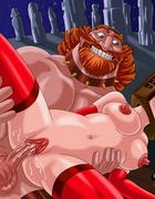Cartoon Viking love using bdsm tools to satisfy his kinky desires in awesome