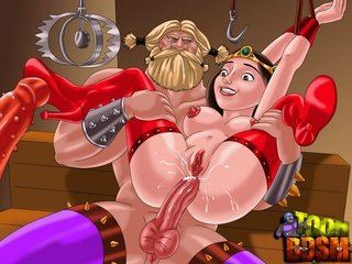 Cartoon Viking love using bdsm tools to - BDSM Art Collection - Pic 2