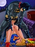 Horny Batman pounding hard bound Supergirl in dirty porn comix