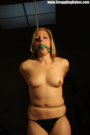 Blonde naked vixen gets gagballed and ro - XXX Dessert - Picture 2