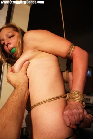 Blonde naked vixen gets gagballed and ro - XXX Dessert - Picture 8