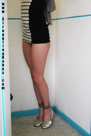 Blonde chick in a striped dress gets gag - XXX Dessert - Picture 11