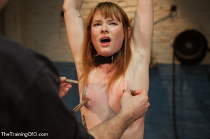 Bound and hung naked red girl is tortured badly in the master's basement - XXXonXXX - Pic 3