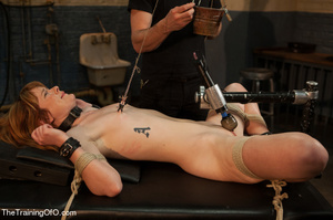 Bound and hung naked red girl is tortured badly in the master's basement - XXXonXXX - Pic 5