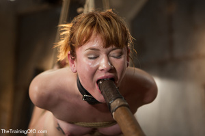 Bound and hung naked red girl is tortured badly in the master's basement - XXXonXXX - Pic 13
