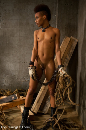 Short-haired ebony shick with small tits gets jeered and fucked badly - XXXonXXX - Pic 4