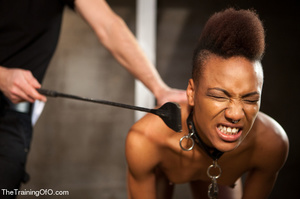 This small-titted black bitch with short-hair loves hard dirty banging with ropes and different bdsm toys - XXXonXXX - Pic 1