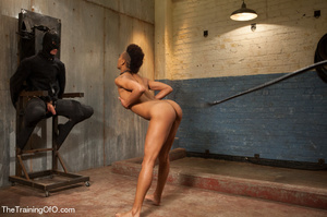 This small-titted black bitch with short-hair loves hard dirty banging with ropes and different bdsm toys - XXXonXXX - Pic 3