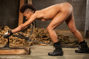 This small-titted black bitch with short-hair loves hard dirty banging with ropes and different bdsm toys - XXXonXXX - Pic 7