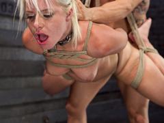 Blonde ponytailed bitch roped in karada style gets - XXXonXXX - Pic 6