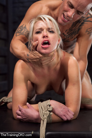 Blonde ponytailed bitch roped in karada style gets punished violently and fucked before final blowjob - XXXonXXX - Pic 11