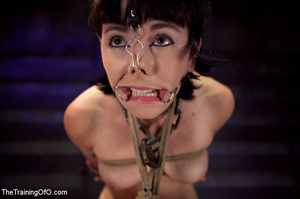 Brunette girl gets jeered and punished badly with ropes and various clams before dirty banging in the basement - XXXonXXX - Pic 4
