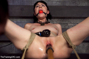 Brunette girl gets jeered and punished badly with ropes and various clams before dirty banging in the basement - XXXonXXX - Pic 6