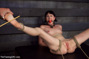 Brunette girl gets jeered and punished badly with ropes and various clams before dirty banging in the basement - XXXonXXX - Pic 8