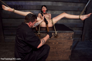 Brunette girl gets jeered and punished badly with ropes and various clams before dirty banging in the basement - XXXonXXX - Pic 11