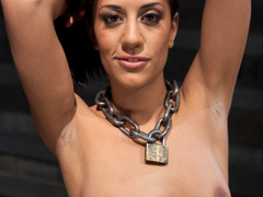Brunette hot chick roped and hang with pin all - XXXonXXX - Pic 2