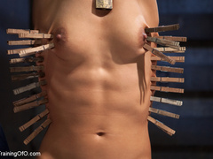 Brunette hot chick roped and hang with pin all - XXXonXXX - Pic 7