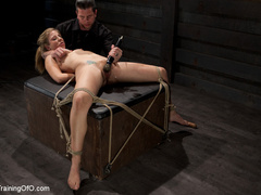 Blonde naked girl gets jeered by her master with - XXXonXXX - Pic 10