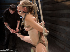 Blonde naked girl gets jeered by her master with - XXXonXXX - Pic 11