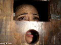 Poor girl with a wodden box with hole on her head - XXXonXXX - Pic 8