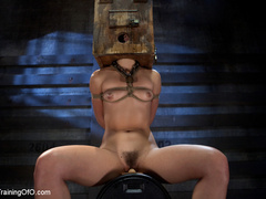Poor girl with a wodden box with hole on her head - XXXonXXX - Pic 9