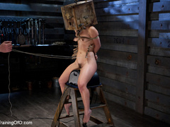 Poor girl with a wodden box with hole on her head - XXXonXXX - Pic 12