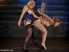 Horny mistress in a blue corset and her master - XXXonXXX - Pic 5