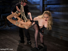 Blonde slave girl with a shinju and clover clamps - XXXonXXX - Pic 15