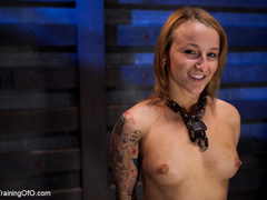 Tattooed enslaved girl in cincher and boots gets - XXXonXXX - Pic 1