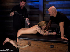 Tattooed enslaved girl in cincher and boots gets - XXXonXXX - Pic 3