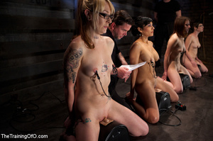Dirty porn pics from the basement where masters having a commission of interviewing their new salve girls and giving them various tests - XXXonXXX - Pic 3