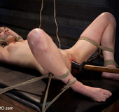 Bondage master fuckign his roped victim with…