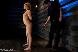 Three stretched and bound tgether girls gets flogged before torturing and fucking in the bdsm basement - XXXonXXX - Pic 10