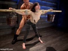 Dark-haired girl in special bondage tight and her - XXXonXXX - Pic 6