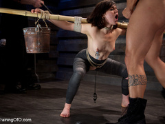Dark-haired girl in special bondage tight and her - XXXonXXX - Pic 11