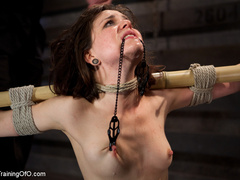 Dark-haired girl in special bondage tight and her - XXXonXXX - Pic 12