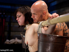 Dark-haired girl in special bondage tight and her - XXXonXXX - Pic 13