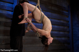 Two enslaved girls roped together get punished hard with whips before fucking - XXXonXXX - Pic 1