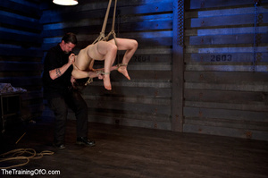 Two enslaved girls roped together get punished hard with whips before fucking - XXXonXXX - Pic 3