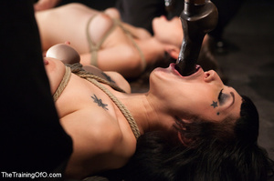 Two enslaved girls with shinju pleasing their lustful bdsm masters - XXXonXXX - Pic 5