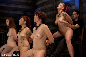 Four bound and suspended girls get tortured and punished badly by bdsm training master - XXXonXXX - Pic 7