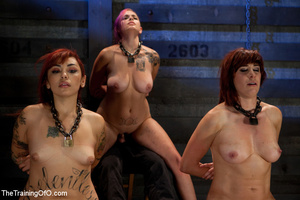 Four bound and suspended girls get tortured and punished badly by bdsm training master - XXXonXXX - Pic 9